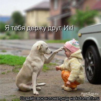 Котоматрица: Я тебя держу друг. Ик!
