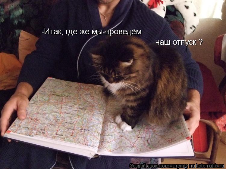 Котоматрица: -Итак, где же мы проведём  наш отпуск ?