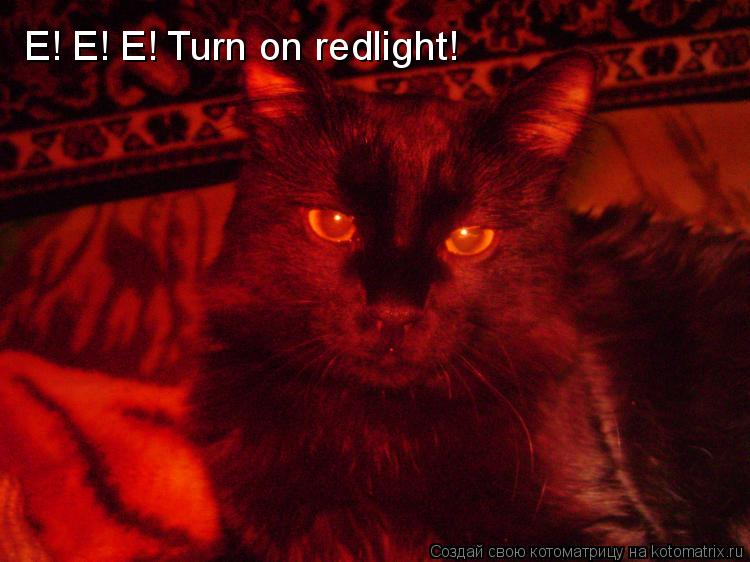 Котоматрица: E! E! E! Turn on redlight!