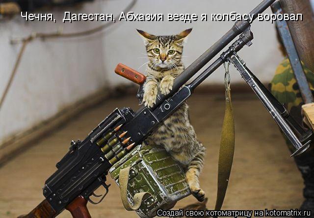 Котоматрица: Чечня,  Дагестан, Абхазия везде я колбасу воровал