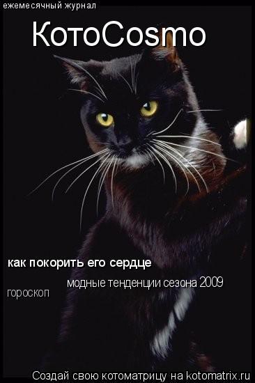 Котоматрица: ежемесячный журнал КотоCosmo как покорить его сердце модные тенденции сезона 2009 гороскоп