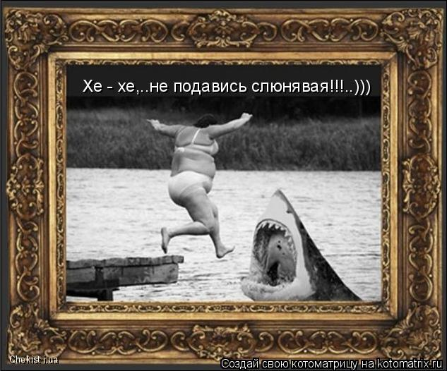 Котоматрица: Хе - хе,..не подавись слюнявая!!!..))) Chekist i.ua