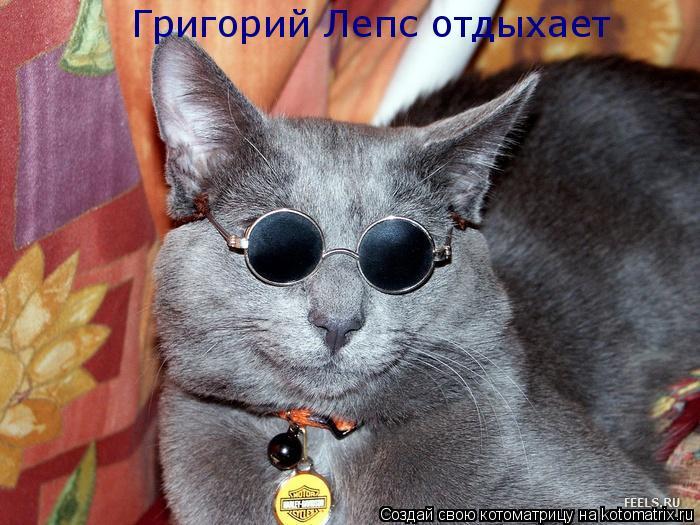 Котоматрица: Григорий Лепс отдыхает