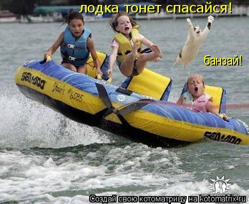 Котоматрица: лодка тонет спасайся! банзай!