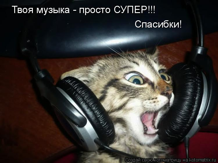Котоматрица: Твоя музыка - просто СУПЕР!!! Спасибки!