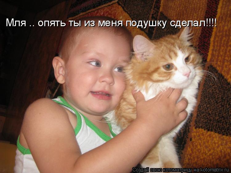 Котоматрица: Мля .. опять ты из меня подушку сделал!!!!