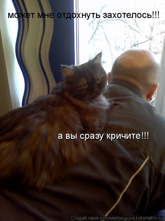 Котоматрица: может мне отдохнуть захотелось!!! а вы сразу кричите!!!