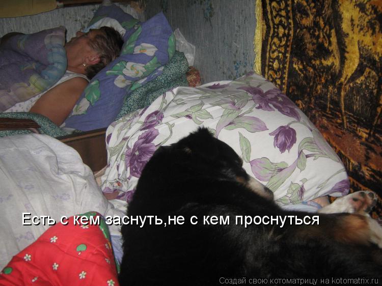 Котоматрица: Есть с кем заснуть,не с кем проснуться