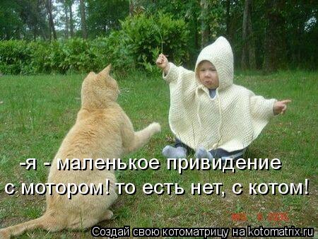 Котоматрица: -я - маленькое привидение  с мотором! то есть нет, с котом!