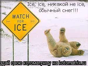 Котоматрица: Ice, ice, никакой не ice,   обычный снег!!!