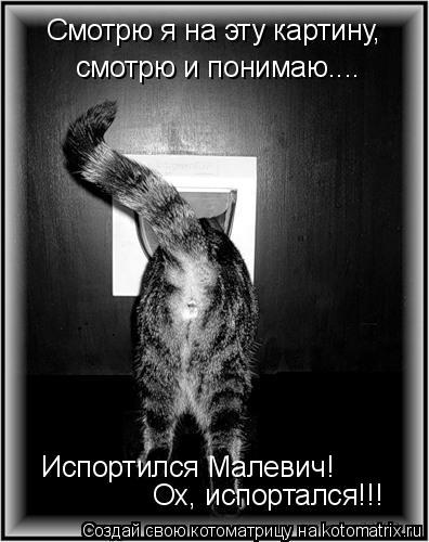 Котоматрица: Смотрю я на эту картину, смотрю и понимаю.... Испортился Малевич! Ох, испортался!!!