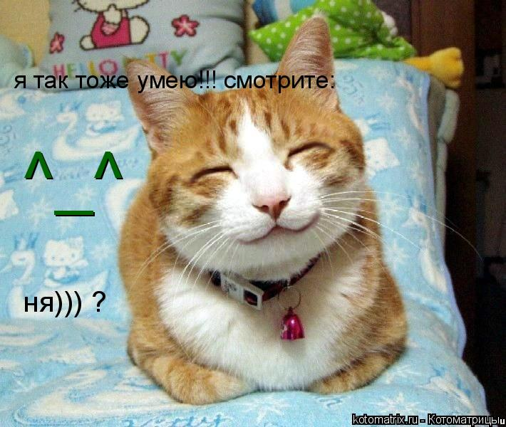 Котоматрица: ^_^ я так тоже умею!!! смотрите: ня))) ?