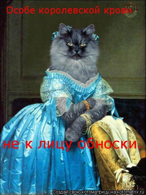 Котоматрица: Особе королевской крови  не к лицу обноски.