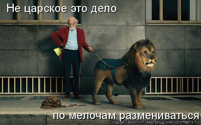 Котоматрица: Не царское это дело  по мелочам размениваться