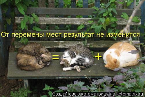 Котоматрица: + = От перемены мест результат не изменится