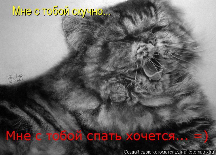 Котоматрица: Мне с тобой скучно... Мне с тобой спать хочется... =)