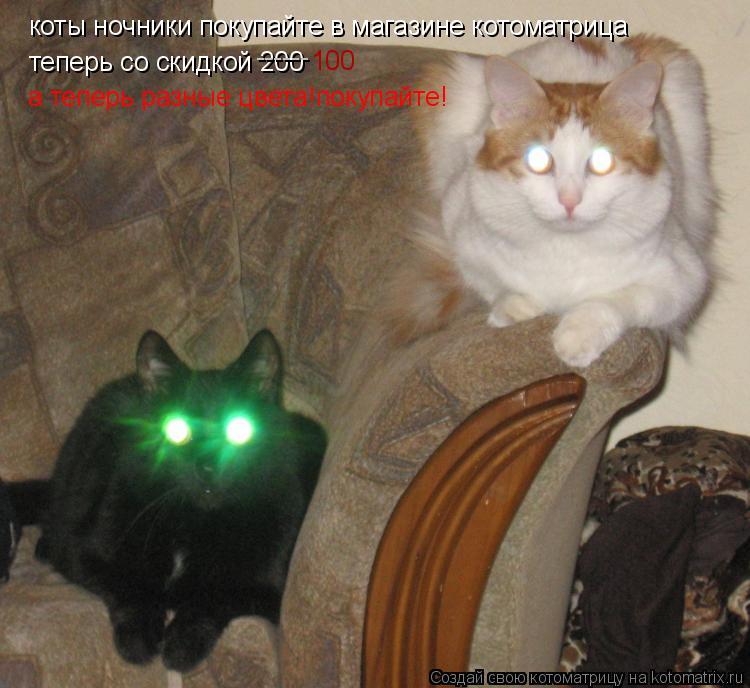 Котоматрица: коты ночники покупайте в магазине котоматрица теперь со скидкой 200 ------ 100 а теперь разные цвета!покупайте!