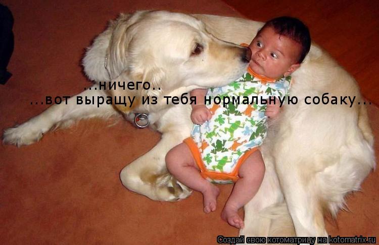 Котоматрица: ...ничего.. ...вот выращу из тебя нормальную собаку...