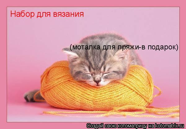 Котоматрица: Набор для вязания  (моталка для пряжи-в подарок)