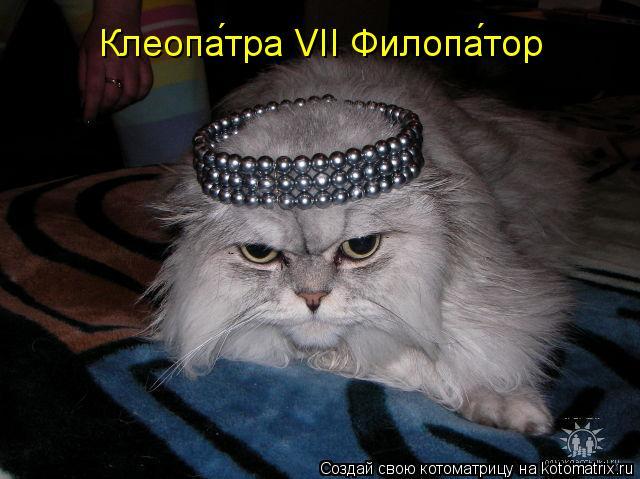 Котоматрица: Клеопа́тра VII Филопа́тор