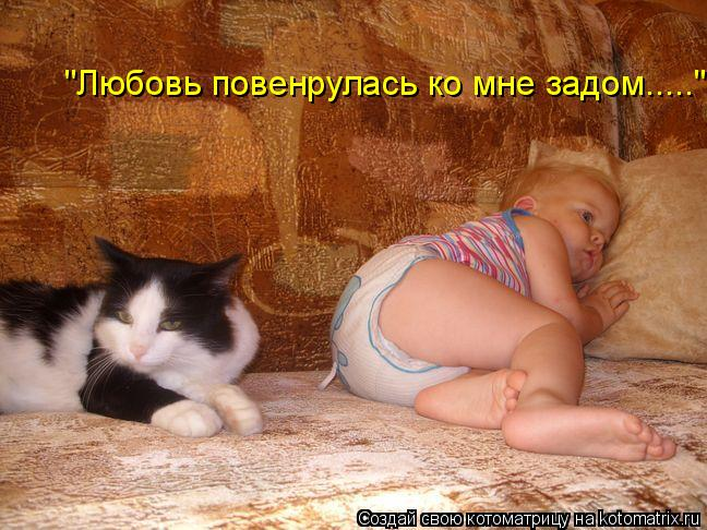 "Котоматрица: ""Любовь повенрулась ко мне задом....."""
