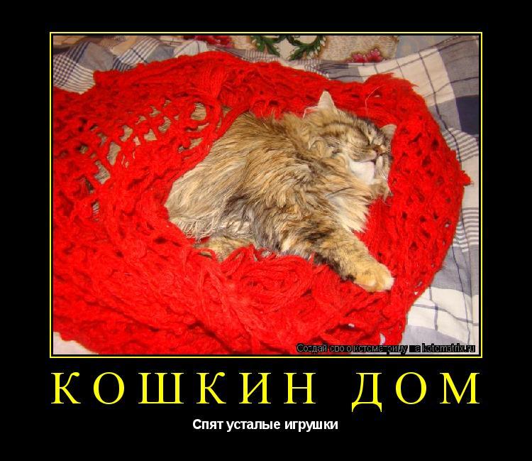 Котоматрица: кошкин дом Спят усталые игрушки
