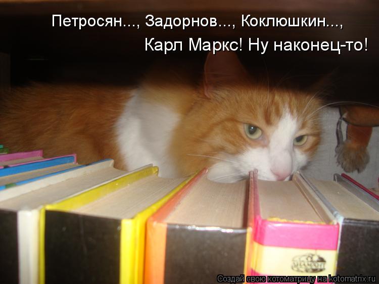 Котоматрица: Петросян..., Задорнов..., Коклюшкин..., Карл Маркс! Ну наконец-то!