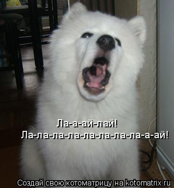 Котоматрица: Ла-а-ай-лай! Ла-ла-ла-ла-ла-ла-ла-ла-а-ай!