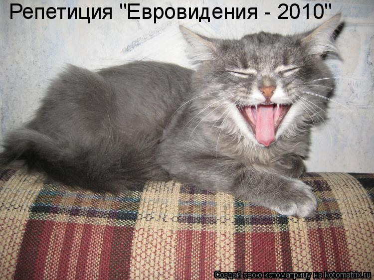 """Котоматрица: Репетиция """"Евровидения - 2010"""""""
