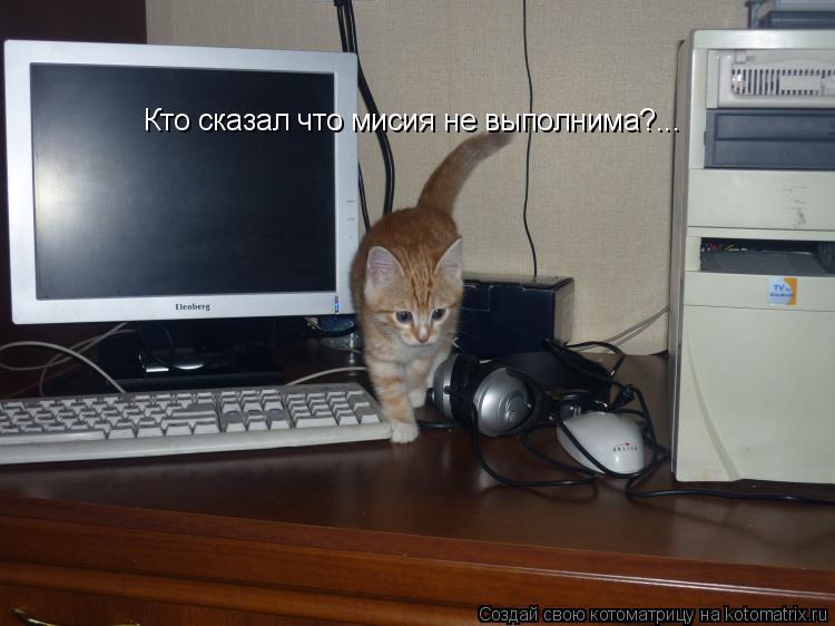 Котоматрица: Кто сказал что мисия не выполнима?...