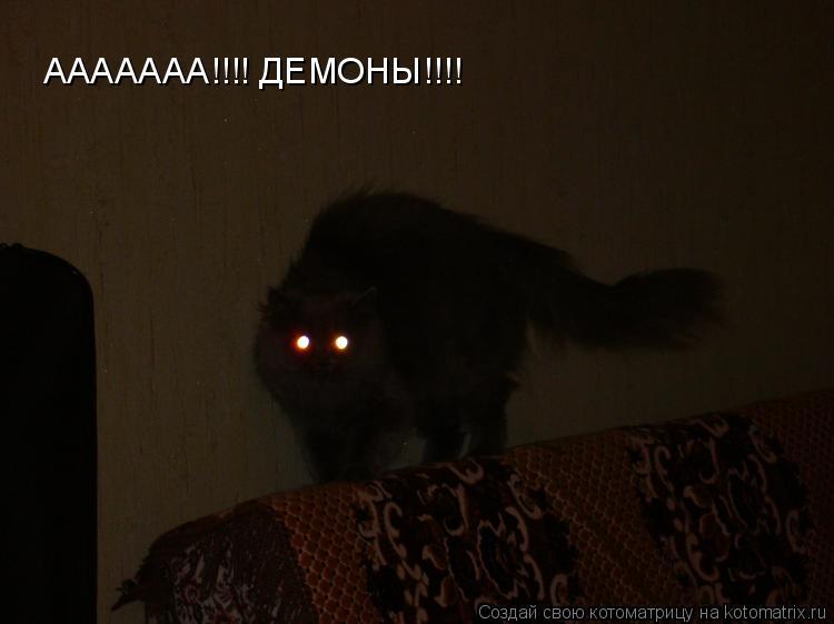 Котоматрица: ААААААА!!!! ДЕМОНЫ!!!!