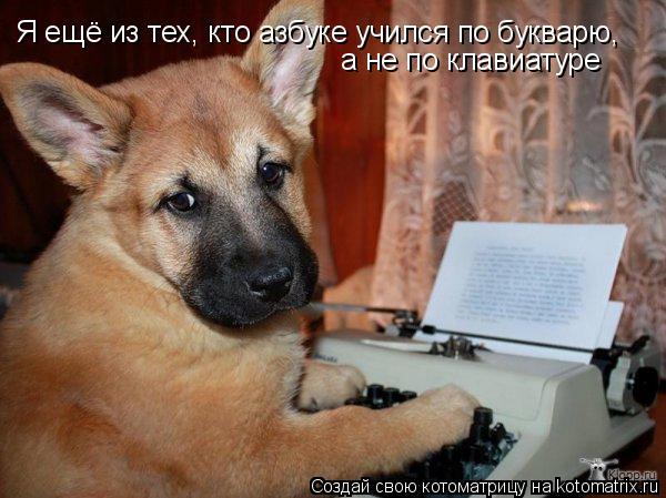 Котоматрица: Я ещё из тех, кто азбуке учился по букварю, а не по клавиатуре