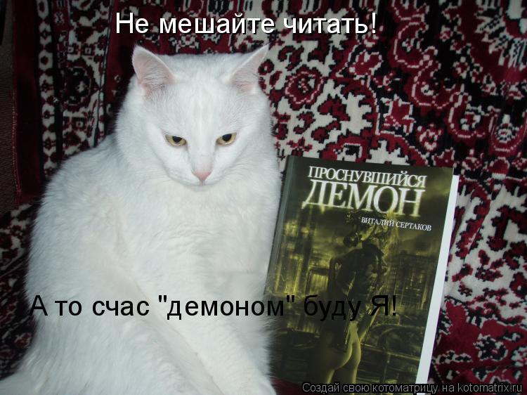 """Котоматрица: Не мешайте читать! А то счас """"демоном"""" буду Я!"""