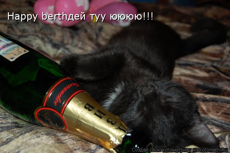 Котоматрица: Happy berthдей туу юююю!!!