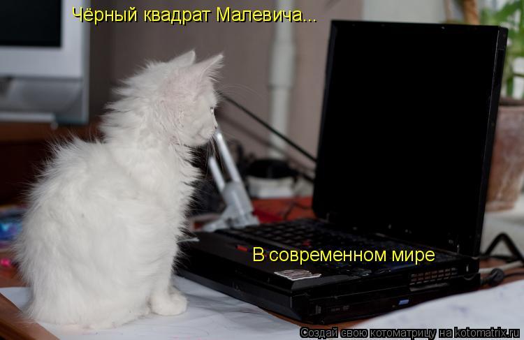 Котоматрица: Чёрный квадрат Малевича... В современном мире