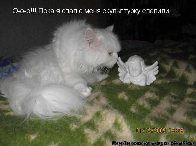 Котоматрица: О-о-о!!! Пока я спал с меня скульптурку слепили!