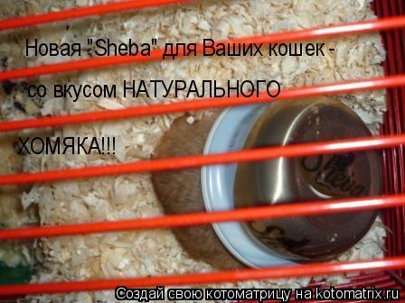 """Котоматрица: Новая """"Sheba"""" для Ваших кошек - со вкусом НАТУРАЛЬНОГО ХОМЯКА!!!"""