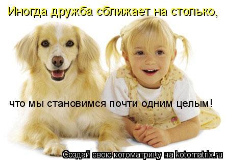 Котоматрица: Иногда дружба сближает на столько, что мы становимся почти одним целым!