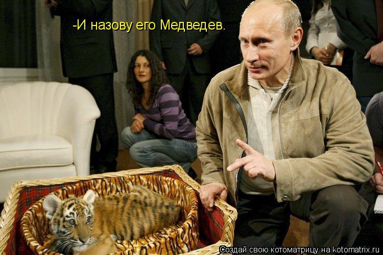 Котоматрица: -И назову его Медведев.