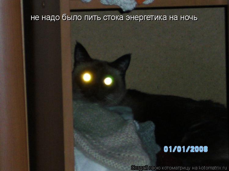 Котоматрица: не надо было пить стока энергетика на ночь