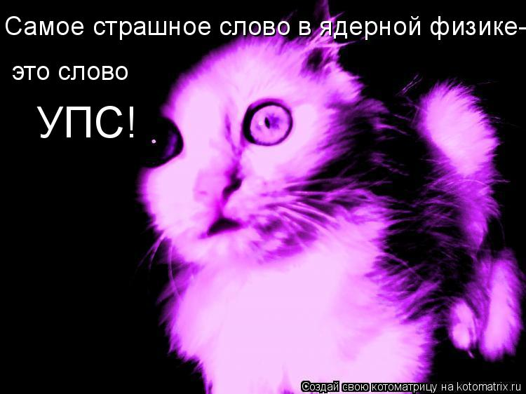 Котоматрица: Самое страшное слово в ядерной физике- это слово УПС!