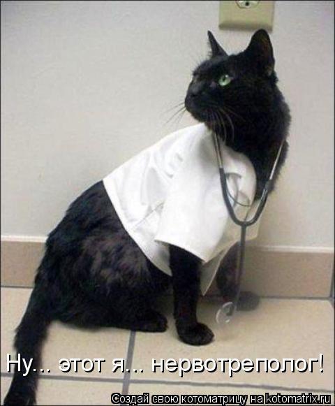 Котоматрица: Ну... этот я... нервотреполог!
