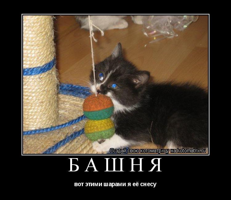 Котоматрица: БАШНЯ вот этими шарами я её снесу