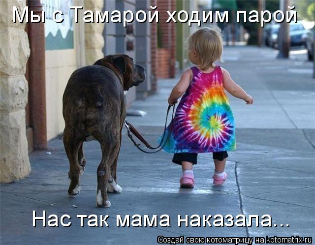 Котоматрица: Мы с Тамарой ходим парой Нас так мама наказала...