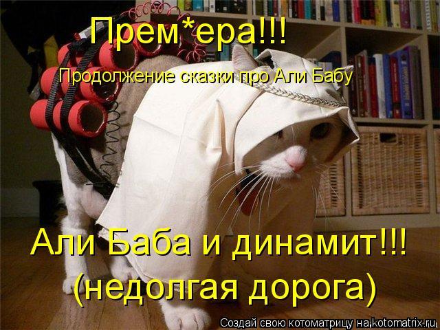 Котоматрица: Продолжение сказки про Али Бабу Прем*ера!!! Али Баба и динамит!!! (недолгая дорога)