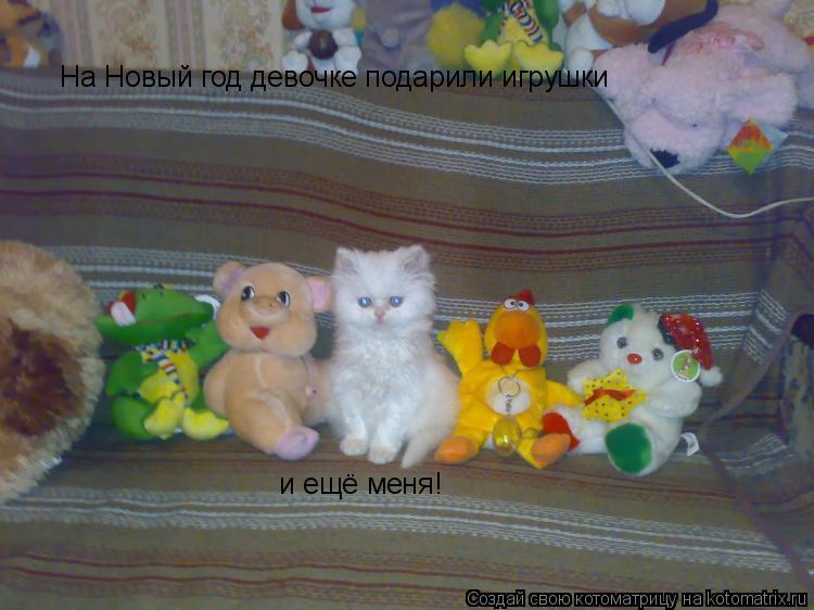 Котоматрица: На Новый год девочке подарили игрушки  и ещё меня!
