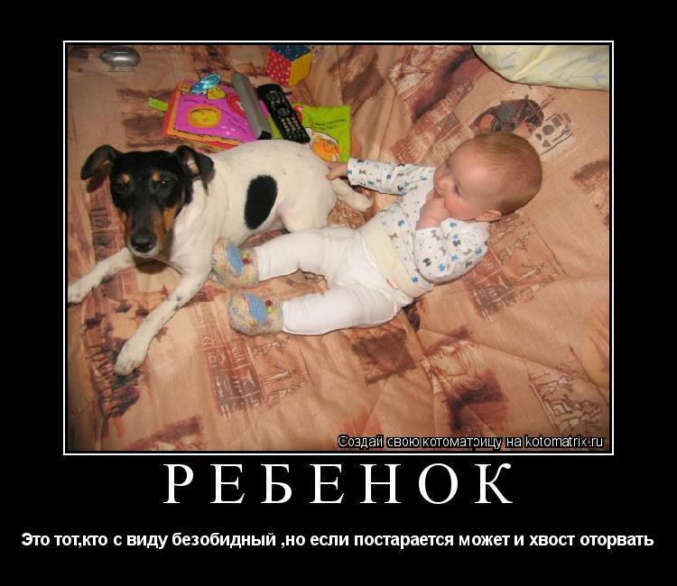Котоматрица: Ребёнок Это тот,кто с виду безобидный ,но если постарается может и хвост оторвать