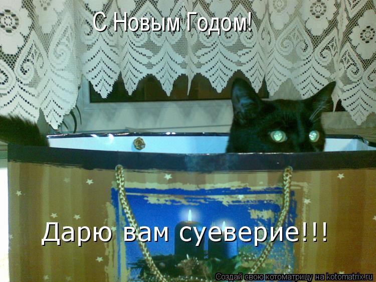 Котоматрица: С Новым Годом! Дарю вам суеверие!!!