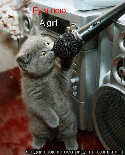 Котоматрица: Еу я пою: A girl