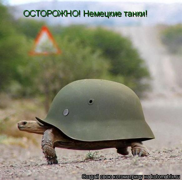 Котоматрица: ОСТОРОЖНО! Немецкие танки!